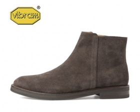AMERICAN COW SUEDE HALF ZIP UP BOOTS