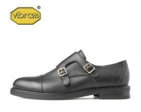 GOLD BUCKLE DOUBLE MONK STRAP
