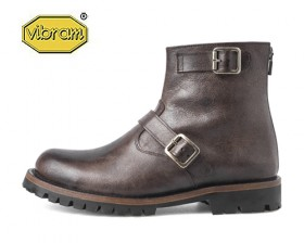 BROWN LEATHER ENGINEER BOOTS