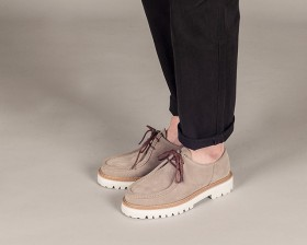 WHITE OVER SOLE TIROLEAN SHOES