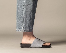 SUEDE COW LEATHER SLIDE(WOMEN)