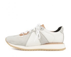 REAL LEATHER TRAINER - HALF OVER SOLE