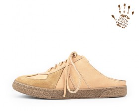 REAL LEATHER TRAINER-MULE_Born