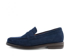 COW SUEDE PENNY LOAFERS