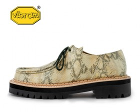 BLACK OVER SOLE PYTHON TYROLEAN SHOES