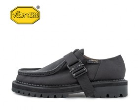 BLACK OVER SOLE TYROLEAN SHOES_CORDURA