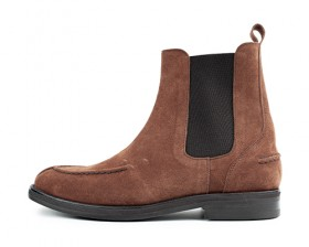 COW SUEDE U - TIP CHELSEA BOOTS